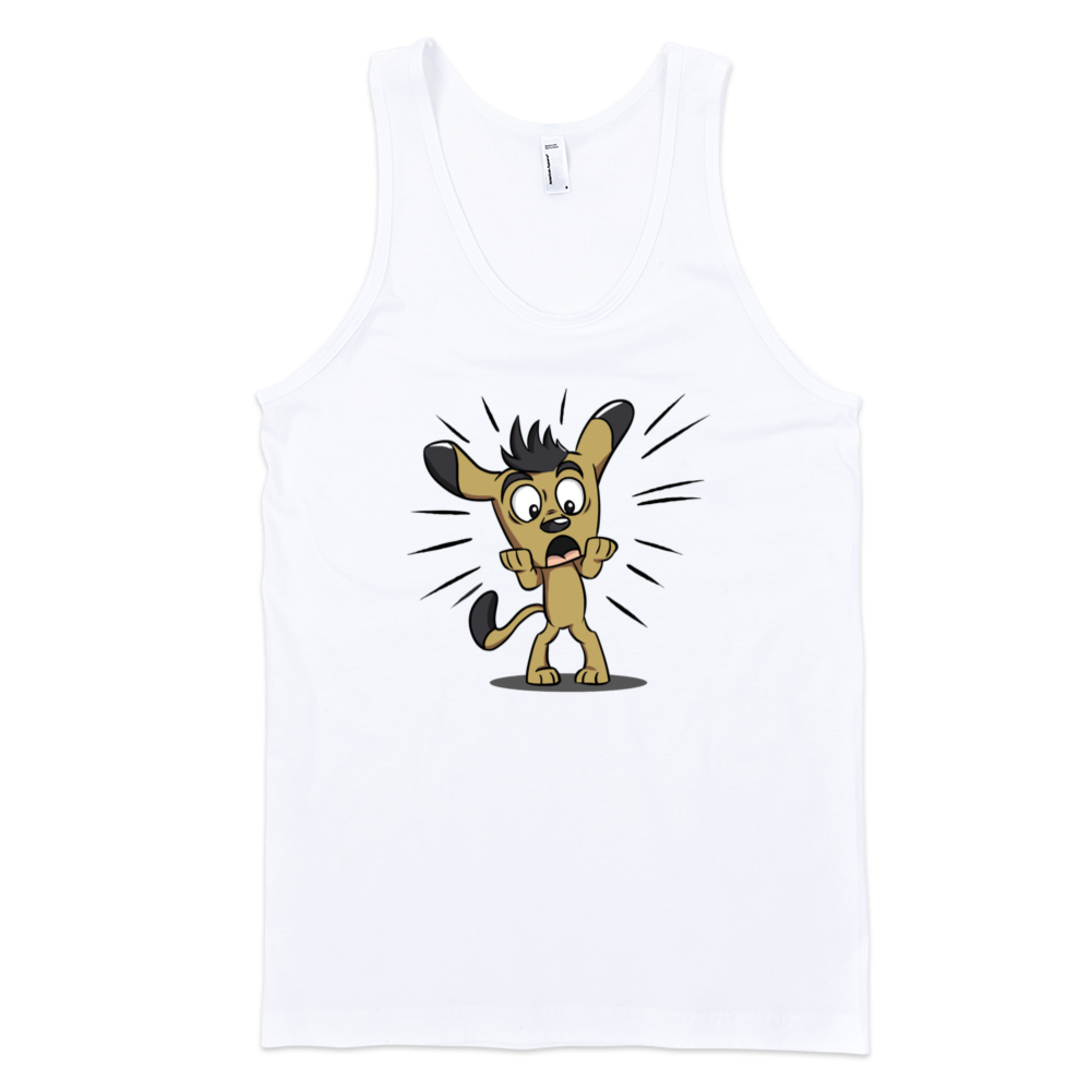 Frightened-Dog-Fine-Jersey-Tank-Top-Unisex-by-iTEE.com