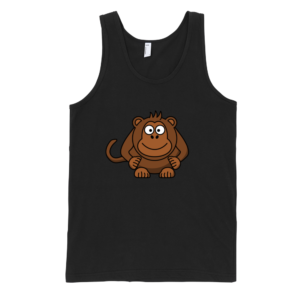 Monkey-Fine-Jersey-Tank-Top-Unisex-by-iTEE.com