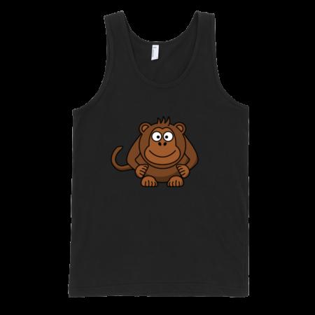 Monkey-Fine-Jersey-Tank-Top-Unisex-by-iTEE.com