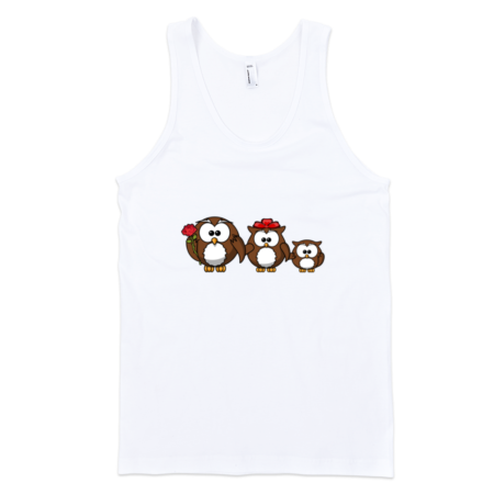 Owls-Family-Fine-Jersey-Tank-Top-Unisex-by-iTEE.com