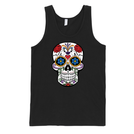 Patterned-Skull-Fine-Jersey-Tank-Top-Unisex-by-iTEE.com