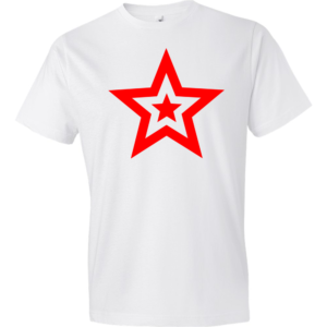 Red-Star-Lightweight-Fashion-Short-Sleeve-T-Shirt-by-iTEE.com