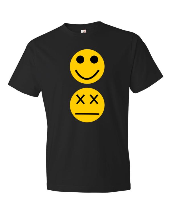 Smiley-Lightweight-Fashion-Short-Sleeve-T-Shirt-by-iTEE.com