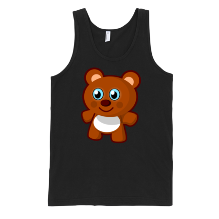 Teddy-Bear-Fine-Jersey-Tank-Top-Unisex-by-iTEE.com