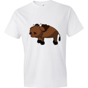 Bison-Lightweight-Fashion-Short-Sleeve-T-Shirt-by-iTEE.com