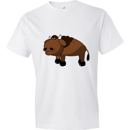 Bison-Lightweight-Fashion-Short-Sleeve-T-Shirt-by-iTEE.com