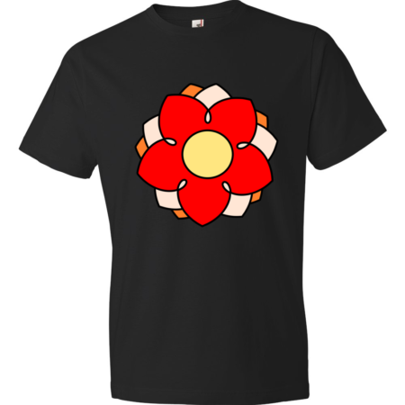 Flower-Lightweight-Fashion-Short-Sleeve-T-Shirt-by-iTEE.com