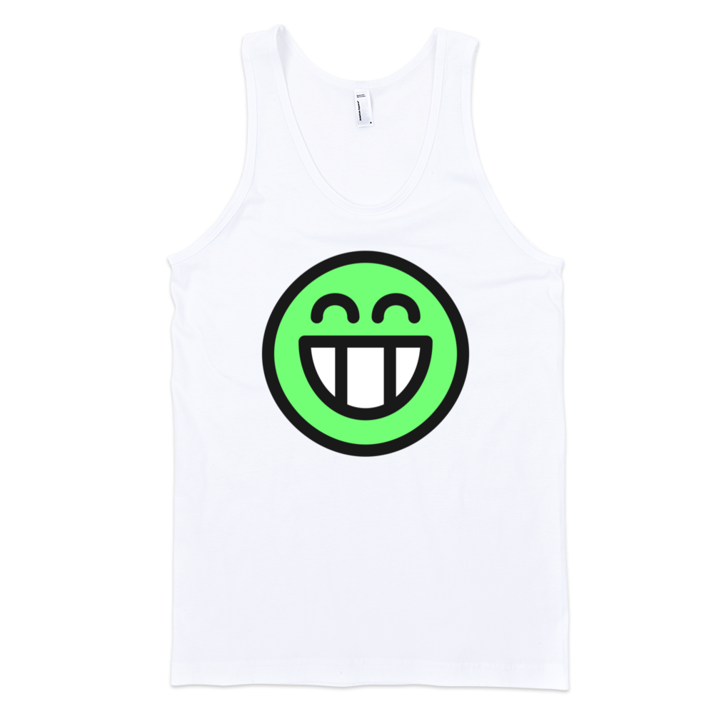 Green-Smiley-Fine-Jersey-Tank-Top-Unisex-by-iTEE.com