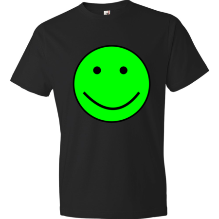 Green-Smiley-Lightweight-Fashion-Short-Sleeve-T-Shirt-by-iTEE.com