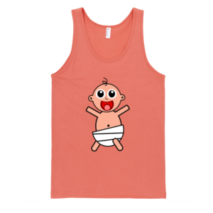 Happy-Baby-Fine-Jersey-Tank-Top-Unisex-by-iTEE.com