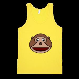 Happy-Monkey-Fine-Jersey-Tank-Top-Unisex-by-iTEE.com