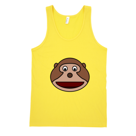 Happy-Monkey-Fine-Jersey-Tank-Top-Unisex-by-iTEE.com