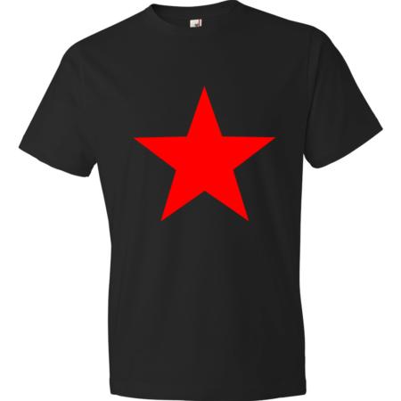 Red-Star-Lightweight-Fashion-Short-Sleeve-T-Shirt-by-iTEE.com-1