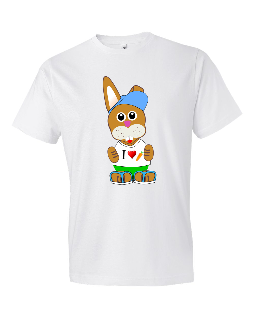 Bunny-Lightweight-Fashion-Short-Sleeve-T-Shirt-by-iTEE.com