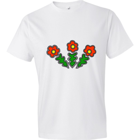 Flowers-Lightweight-Fashion-Short-Sleeve-T-Shirt-by-iTEE.com
