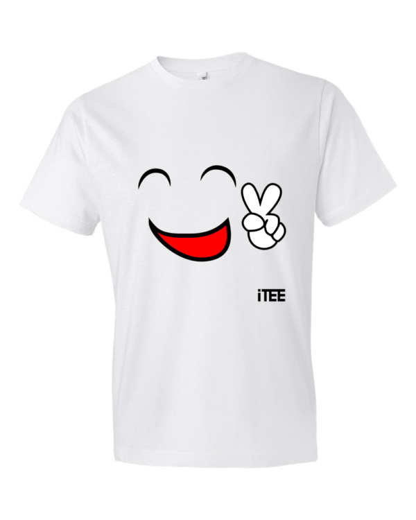 Happy-Smile-Lightweight-Fashion-Short-Sleeve-T-Shirt-by-iTEE.com