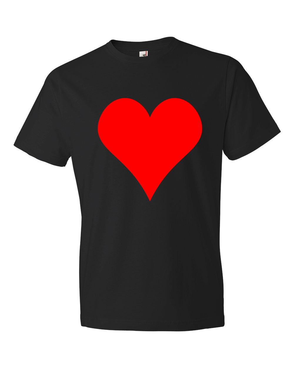 Heart-Lightweight-Fashion-Short-Sleeve-T-Shirt-by-iTEE.com