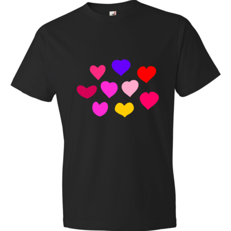 Hearts-Lightweight-Fashion-Short-Sleeve-T-Shirt-by-iTEE.com