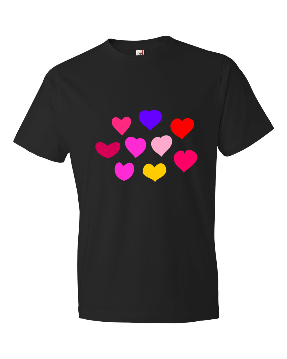 Hearts-Lightweight-Fashion-Short-Sleeve-T-Shirt-by-iTEE.com