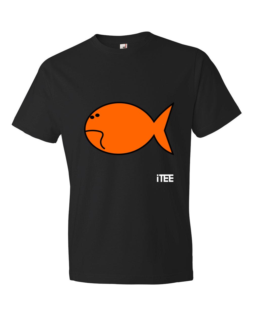 Sad-Fish-Lightweight-Fashion-Short-Sleeve-T-Shirt-by-iTEE.com