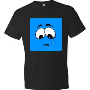 Sad-Smiley-Lightweight-Fashion-Short-Sleeve-T-Shirt-by-iTEE.com