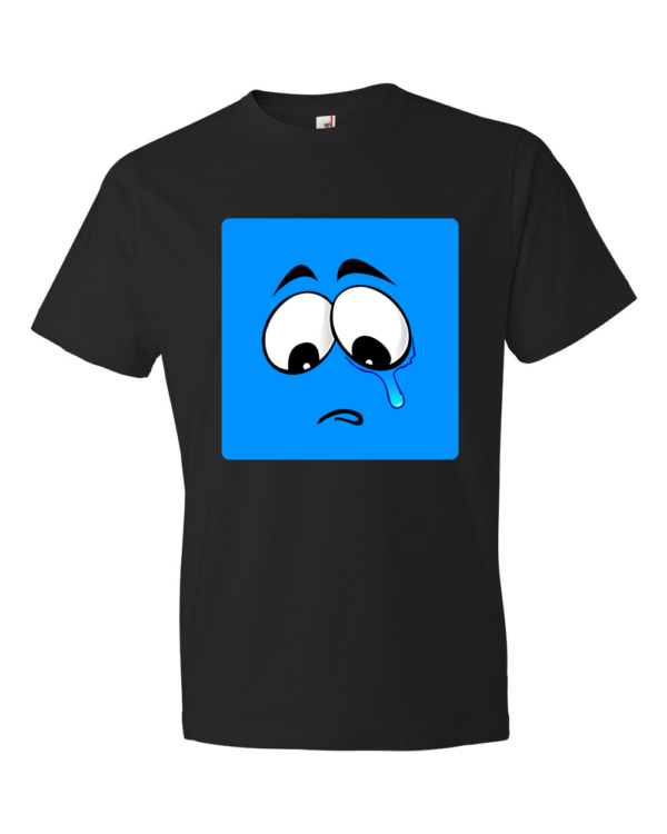 Sad-Smiley-Lightweight-Fashion-Short-Sleeve-T-Shirt-by-iTEE.com