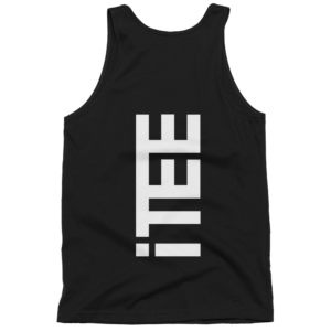 iTEE-Black-Vertical-Logo-Back-Fine-Jersey-Tank-Top-Unisex-by-iTEE.com