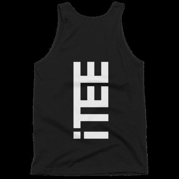 iTEE-Black-Vertical-Logo-Back-Fine-Jersey-Tank-Top-Unisex-by-iTEE.com