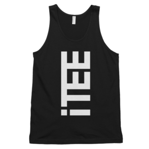 iTEE-Black-Vertical-Logo-Front-Fine-Jersey-Tank-Top-Unisex-by-iTEE.com