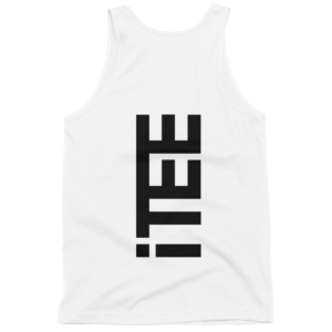 iTEE-White-Vertical-Logo-Back-Fine-Jersey-Tank-Top-Unisex-by-iTEE.com