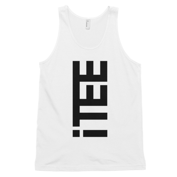iTEE-White-Vertical-Logo-Front-Fine-Jersey-Tank-Top-Unisex-by-iTEE.com