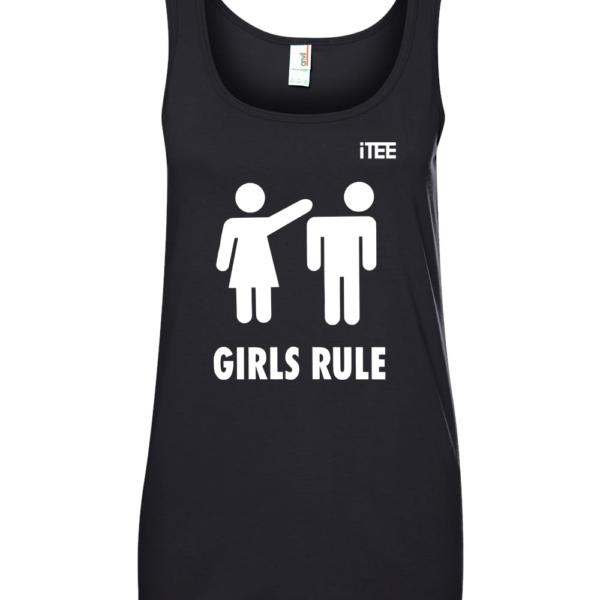 Girls-Rule-Ladies-Missy-Fit-Ring-Spun-Tank-Top-by-iTEE.com