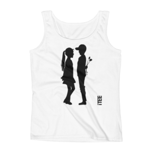 Loving Boy and Girl Ladies Missy Fit Ringspun Tank Top by iTEE.com