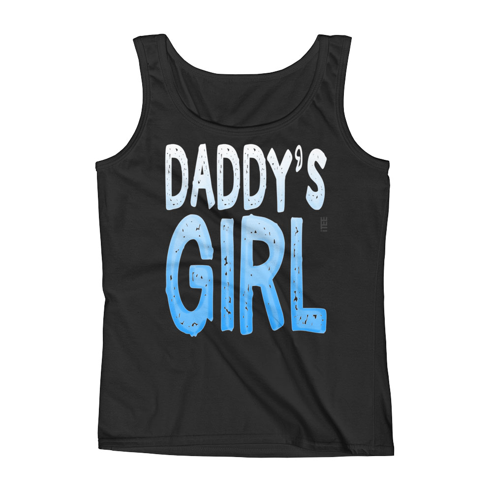 Daddy's Girl Ladies Missy Fit Ringspun Tank Top by iTEE